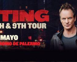 Sting confirmó nuevo show en Argentina