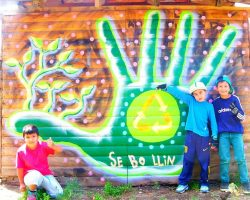 Intervención artística: con su talento, buscan embellecer murales de Angostura. Conocé la propuesta
