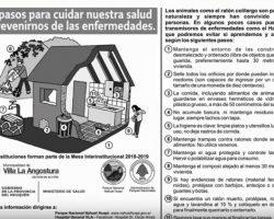 Recomendaciones de prevención ante posible presencia de roedores por la floración de la Caña Colihue