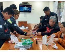 La solidaridad pudo una vez más: los bomberos angosturenses llegaron al objetivo y saldrán a repartir caramelos